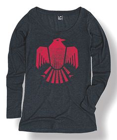 Look at this #zulilyfind! Heather Blue & Fuchsia Ancient Eagle Tee by LC Trendz #zulilyfinds