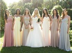 New Custom Size Sweetheart Wedding Party Gowns Straight Long Bridesmaid Dresses #DustyRose❤️
