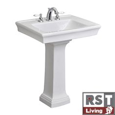 @Overstock - This elegantly designed Julian pedestal lavatory by Icera is perfect for any classic or transitional bathroom environment. A white Vitreous china construction highlights this beautiful sink.http://www.overstock.com/Home-Garden/RST-Living-Icera-Julian-White-Pedestal-Lavatory/6109443/product.html?CID=214117 $314.99