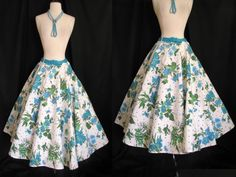 Vintage 1950s Floral Garden Party Full Circle by jwvintagecloset, $68.00