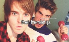 Shane Dawson & Joey Graceffa. not friendship... but heir everything....(shoey xo)