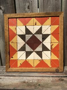 This handmade wooden quilt is crafted from reclaimed wood harvested in central Illinois. Plain and p Barn Quilt Designs, Barn Quilt Patterns, Quilting Designs, Craft Patterns, Quilting Ideas, Crochet Patterns, Barn Signs, Pallet Signs, Wood Signs