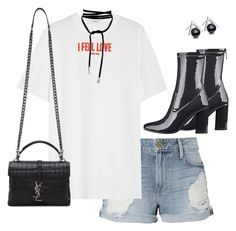 """""""Untitled #285"""" by katiemarte ❤ liked on Polyvore featuring Frame, Givenchy, GUESS, Lamoda and Yves Saint Laurent"""