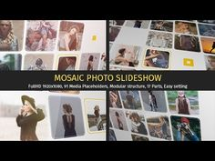 Mosaic Photo Slideshow   After Effects template - YouTube