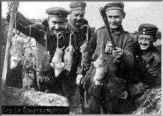 WWI soldiers were bad ass and were not afraid of the giant rats in the trenches