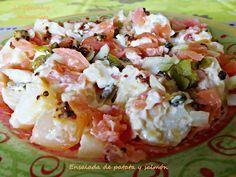 La Cocinera Mileurista: Ensalada de patata y salmón