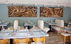 Cool driftwood art! @Driftwood in Bishop Arts