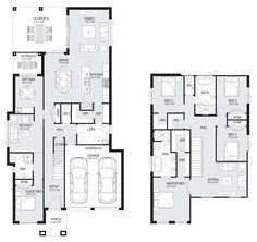 Affinity Dual - dual-living Level - Floorplan by Kurmond Homes - New Home Builders Sydney NSW House Plans 2 Story, Family House Plans, Two Story Homes, Dream House Plans, House Floor Plans, Dream Houses, Double Storey House Plans, Double Story House, Floor Plan 4 Bedroom