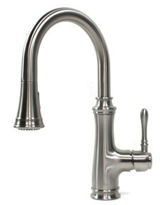 Bishop Style Lead Free Brushed Nickel Kitchen Faucet