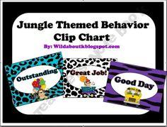 Behavior Clip Chart Jungle Theme
