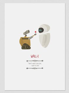 Illustration. Wall-E. Based on the film by Andrew by Tutticonfetti