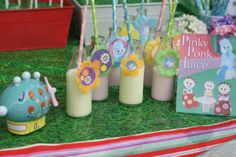 """Téa's In the Night Garden Birthday Party is part of garden Party Night - For Téa's birthday this year we went with the theme of her favorite TV show, """"In the Night Garden"""" She adores these characters, knows each of their signature dances by hea… Garden Birthday, 2nd Birthday Parties, Birthday Ideas, Birthday Cake, Garden Party Decorations, Birthday Party Decorations, Diy Party Tent, Lucas 2, Peter Rabbit Party"""