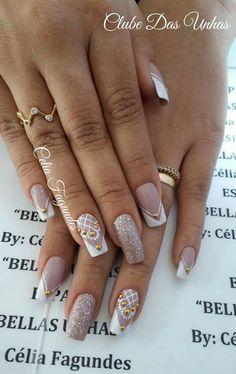Stylish Nails, Trendy Nails, Cute Nails, Fabulous Nails, Perfect Nails, Bridal Nails, Wedding Nails, Romantic Nails, Stamping Nail Art