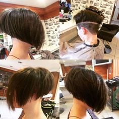 ... shaved close clippered clippered napes bob hair nape high nape #hairdare #steephighshort