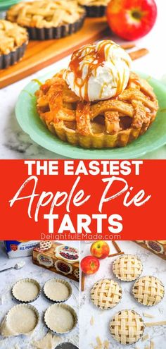 Just like a classic apple pie recipe, these easy Apple Pie Tarts are the perfect dessert for your holiday dessert table. These individual apple pies are easy to make and look amazing, making them the perfect make-ahead dessert for your Thanksgiving dinner! || Delightful E Made Thanksgiving Recipes, Holiday Recipes, Individual Apple Pies, Classic Apple Pie Recipe, Make Ahead Desserts, Apple Pie Recipes, Holiday Dinner, Tart, Easy Meals