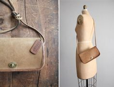 1970s vintage petite tan leather Coach purse