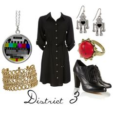 """""""District 3"""" by character-inspired-style on Polyvore"""