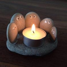 Pebble Candle Holder.