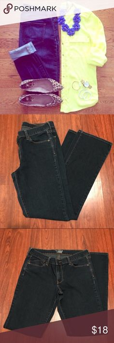 "Dark Wash Jeans {Old Navy} Dark-wash jeans by Old Navy NWOT Flirt Style. Laying flat the waist is 16"", hips are 19"" and inseam around 29"". reasonable offers welcome. Please ask any questions prior to purchasing. 🚫smoke/pets Old Navy Jeans Straight Leg"