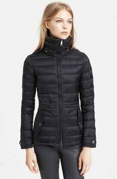 Burberry Brit 'Roosby' Goose Down Jacket available at #Nordstrom in BRIGHT TEAL