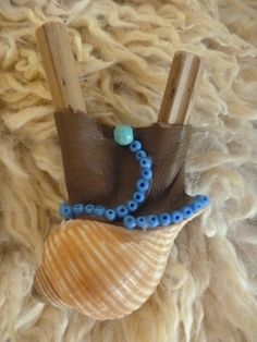 Water Kuripe with shell and turquoise. www.facebook.com/MotherofWater
