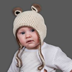 Our Bear Ear Beanies are hand crocheted in soft cotton. The Beanies have ear-flaps to keep your baby cozy. They come in 3 great colour combinations. Shop for your great bear beanie for on the Mamahood Market Hand Crochet, Crochet Hats, We Bear, Bear Ears, Colour Combinations, Beanies, Kids Clothing, Baby Kids, Kids Outfits