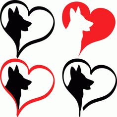 Silhouette Design Store - View Design #64764: german shepherd love
