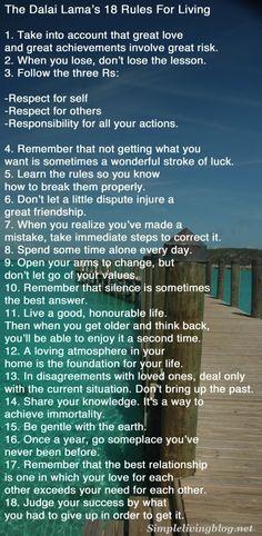 The Dalai Lama's 18 Rules For Living