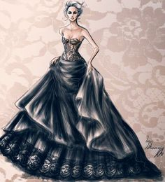 Delicate Dress by ShameKh Fashion Illustrator