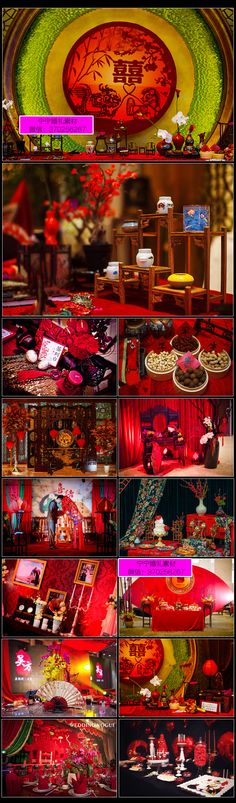 × Source by Chinese Wedding Decor, Oriental Wedding, Wedding China, Red Wedding, Chinese Birthday, Asian Party, Old Shanghai, Booth Decor, Ceremony Backdrop