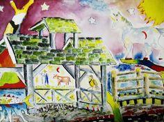 A Childs Dream, 2007  william london Watercolor Unique Work Size : 12 x 16 x 0.1 in.