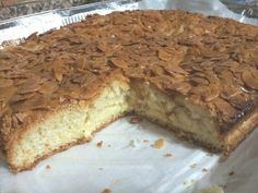 Focaccia alle mandorle con crema pasticcera #cake #cream #almond #paneangeli