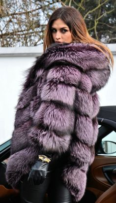 Violet Royal Saga Silver Fox Fur Poncho Like Sable Mink Chinchilla Coat Jacket | eBay