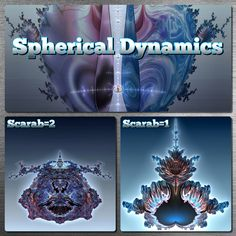 """Spherical Dynamics {by Dominic Rochon, 2020}. Illustrations of the Mandelbulb (Power 2) with two variations over the """"scarab"""" angle. #fractalart, #fractals, #3dfractals, #mandelbrot, #3dmandelbrot, #bulbicmandy, #mandelbulb, #mb3d"""