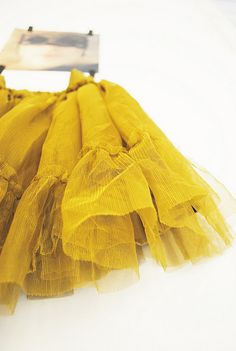"""yellow tutu...I hate that """"yellow"""" is the trendy color. THis has been my fav color since I was a wee one."""