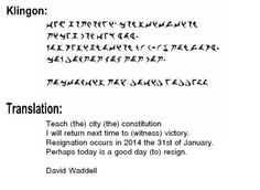 Town Councilman Writes Resignation Letter in Klingon