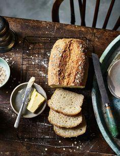 Aug 2019 - No-knead porridge bread recipe Savoury Baking, Bread Baking, Savoury Recipes, Cake Recipes, Rustic Food Photography, Photography Ideas, Bread Alternatives, No Knead Bread, Breads