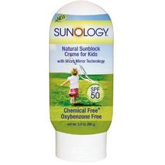 Sunology SPF 50 Natural Sunblock Concentrated Lotion for Kids 3 Oz-Amazon