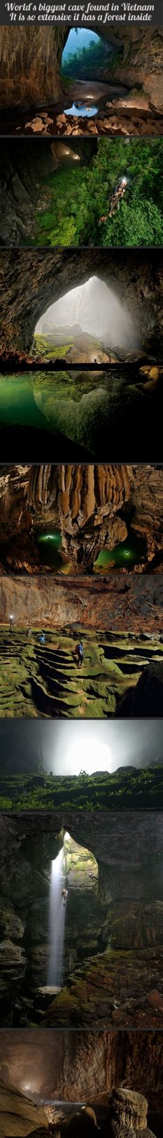Worlds biggest cave in Vietnam - there is a forest inside! - Bucket ListWorlds biggest cave in Vietnam - there is a forest inside! Places Around The World, Oh The Places You'll Go, Places To Travel, Places To Visit, Around The Worlds, Vietnam Voyage, Vietnam Travel, Vietnam Vacation, Visit Vietnam
