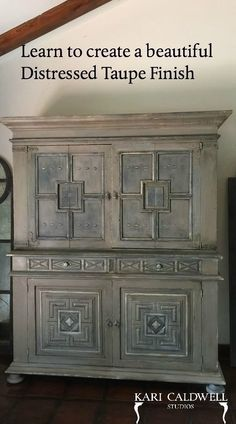 Learn to dip into some Annie Sloan Chalk Paint and create this magnificent distressed Taupe finish. Turn your old wood furniture pieces into interesting and beautiful pieces today