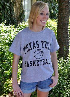 Grey Texas Tech Basketball Tee