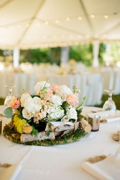 pretty, rustic centerpiece | Tucker Images