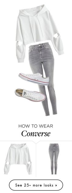 Cute Autumn Look by hayleydalton on Polyvore featuring Topshop, Converse, cute and autumn