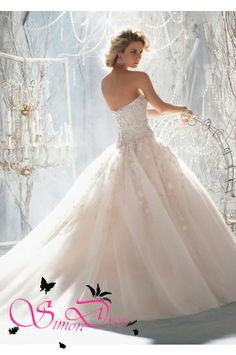 Style 8032  Elaborate Beading with Raised Embroidery on Tulle - Ball Gown Wedding Dresses - Hot Wedding Dresses 2014 on sale at reasonable prices, buy cheap Style 8032  Elaborate Beading with Raised Embroidery on Tulle - Ball Gown Wedding Dresses - Hot Wedding Dresses 2014 at www.simondress.com now!  https://www.simondress.com/style-1970-elaborate-beading-with-raised-embroidery-on-tulle.html