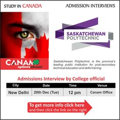 Study in #Canada - Saskatchewan Polytechnic For complete information & enrolment, Register Today!  #StudyAbraod #StudyinCanada #StudyVisa #StudentVisa #StudyVisaExpert #CanamConsultants