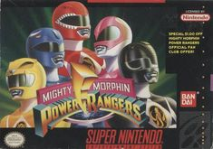 Mighty Morphin Power Rangers Super Nintendo game