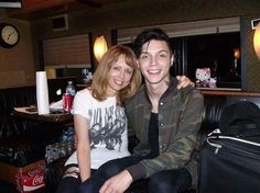 Andy and his Mom. His mum's wearing BVB band merch!