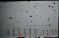 """Доска недели от наших дизайнеров. """"Жан-Поль Сартр и Симонд де Бовуар смотрят на закат"""". #r52 #креатив"""