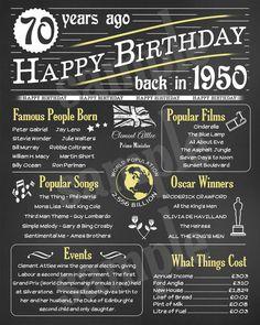 70th Birthday Presents, 70th Birthday Decorations, Happy Birthday Dad, 70th Birthday Parties, Birthday Gift For Him, Birthday Board, 70th Birthday Ideas For Mom, Girl Birthday, Quotes Girlfriend