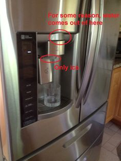 poor Even after years of having this fridge, I still forget that the water comes out of that top spout Real Estate Humor, Drip Coffee Maker, Funny Images, Refrigerator, Forget, Random, Water, Top, Design